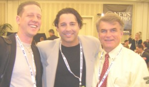 "Owner Joe Rashbaum with Reality TV personality Jonathan Baker & legendary Morning Host, ""Good Day's"" Doug Stephan"